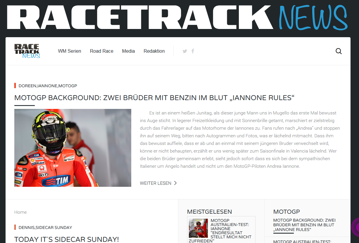 Racetrack News